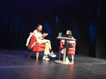 Evin Ahmad besökte TG under läsveckan